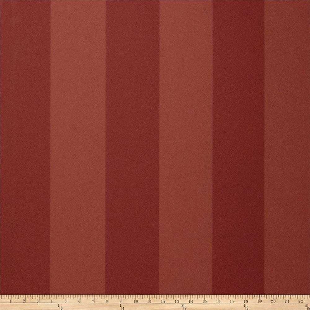 Fabricut 8827e Sutton Stripe Wallpaper S0246 Russet (Triple Roll)