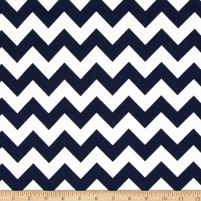 Riley Blake Flannel Basics Chevron Medium Navy