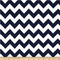 Riley Blake Flannel Basics Chevron Medium Navy Fabric