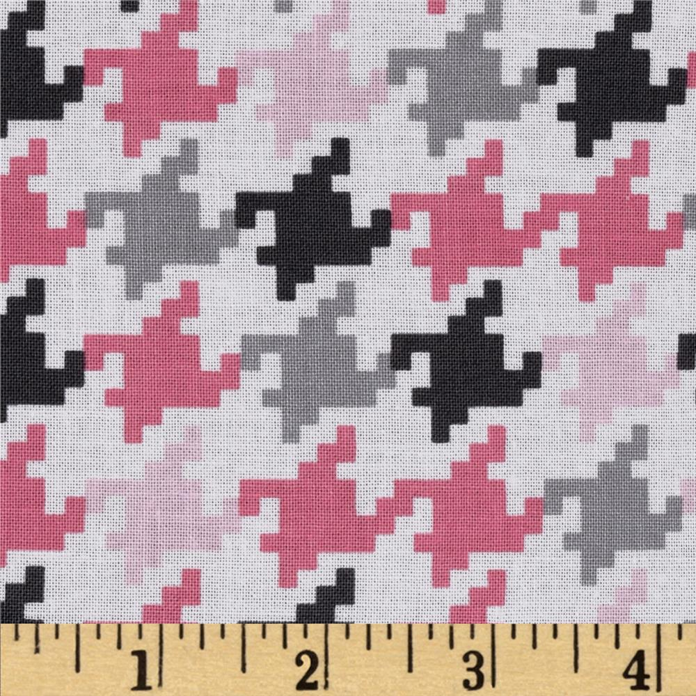 Michael Miller Everyday Houndstooth Bloom