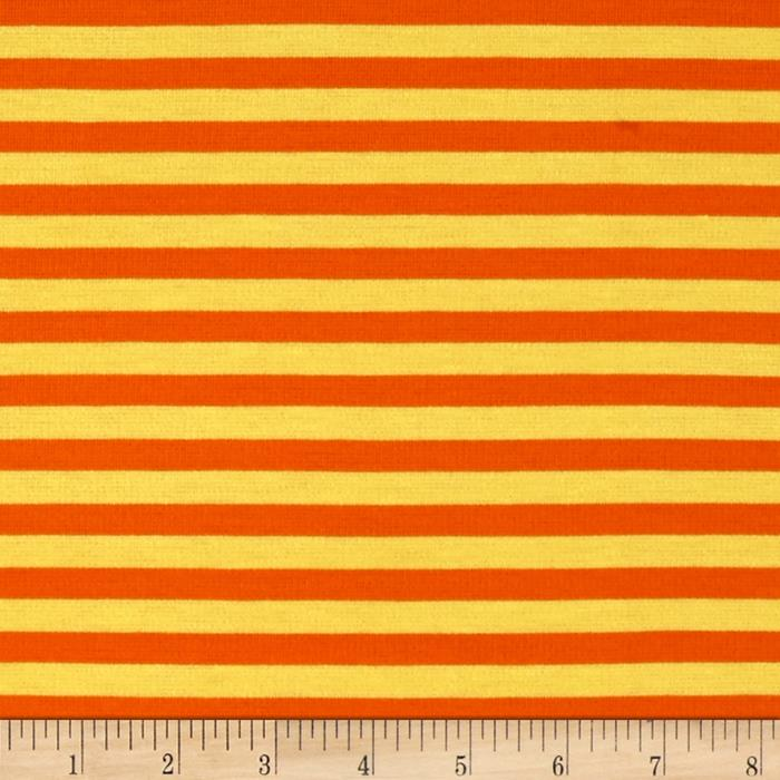 Ponte de Roma Knit Vertical Stripes Yellow