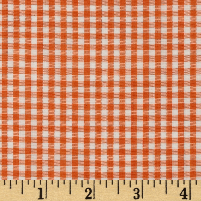 Woven 1/8'' Gingham Orange Fabric