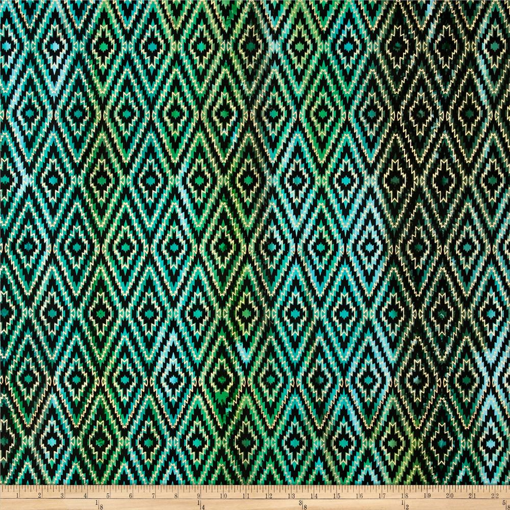 Indian Batik Urban Ethnic Ikat  Green
