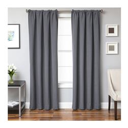 "Sunbrella 96"" Solid Rod Pocket Outdoor Panel Charcoal"