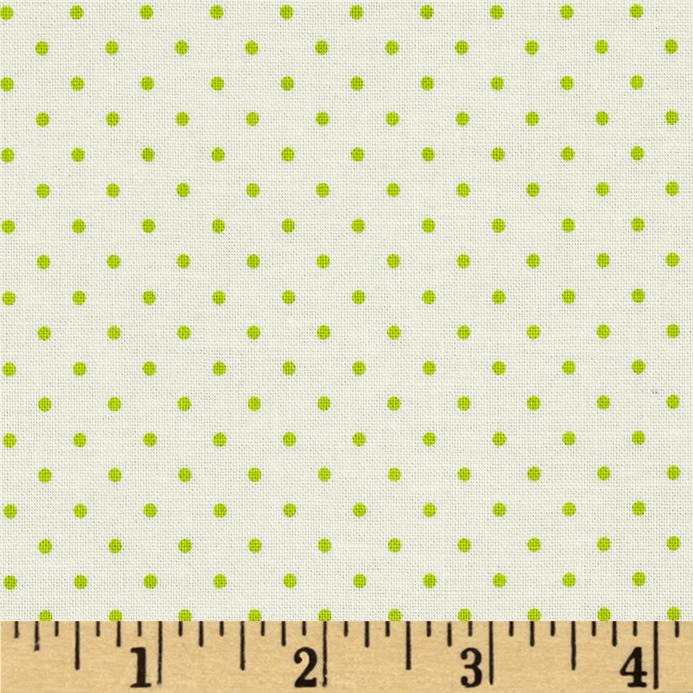 Riley Blake La Creme Basics Swiss Dots Lime