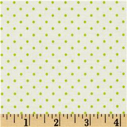 Riley Blake La Creme Basics Swiss Dots Cream/Lime