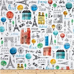 Kaufman Paris Adventure Collage Multi
