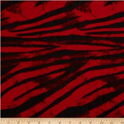 Tissue Hatchi Knit Zebra Striped Black/Red