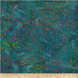 Indian Batiks Grid Teal/Pink