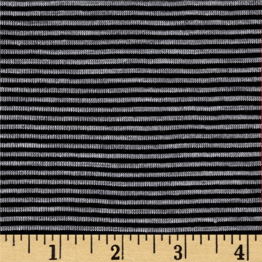 Pin Stripe Jersey Knit Dark Gray/Black