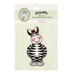 Iron-On Embroidered Applique Bazooples Zach Zebra