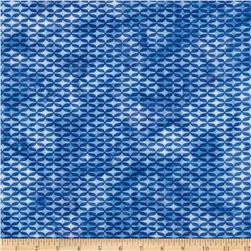 Island Batik Lattice Medium Blue
