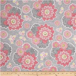 Sweet Harmony Large Floral Lace Grey/Pink