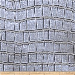 Fabricut Tin Oxide Faux Leather Aluminum