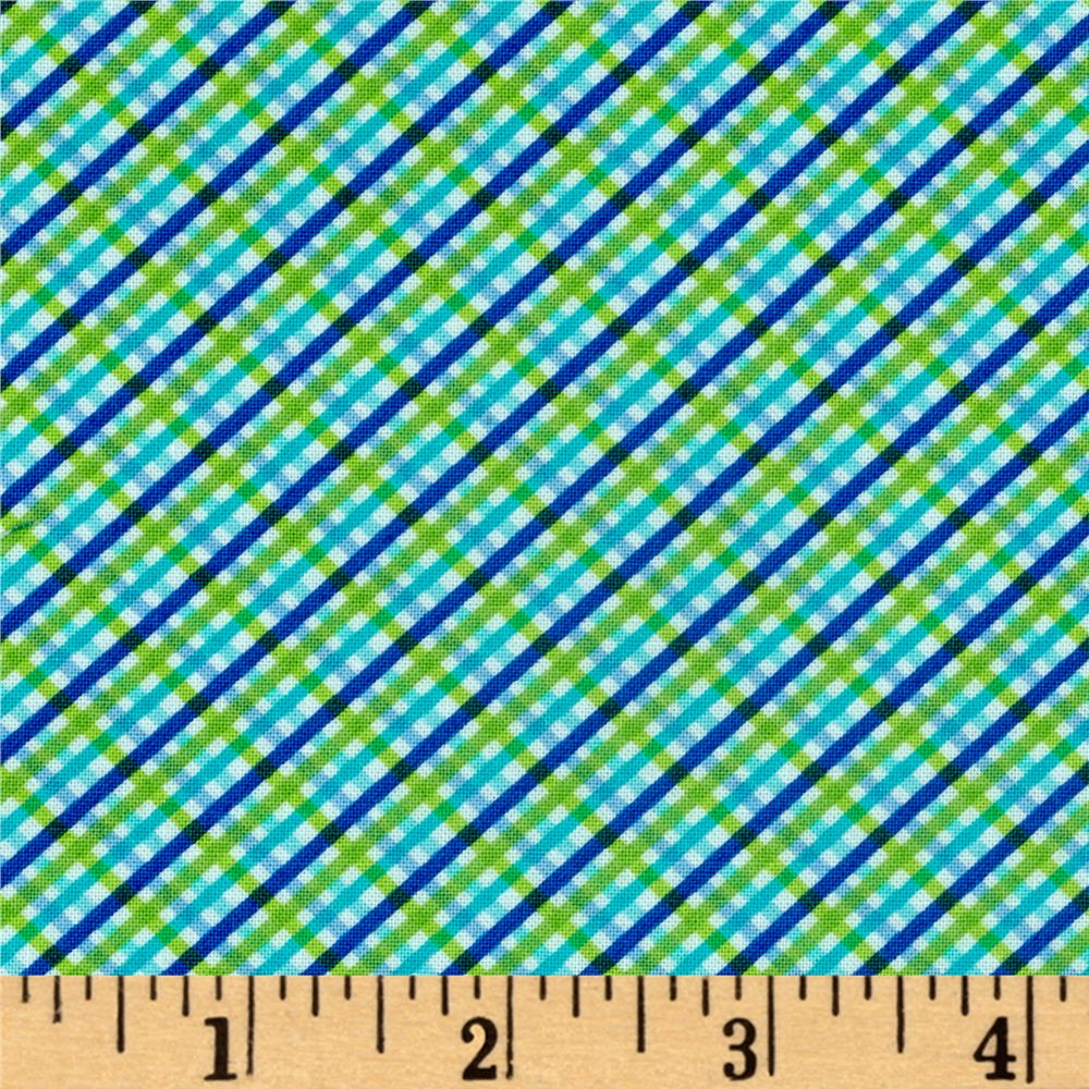 Moda Brighten Up! Gingham Up Blue/Green