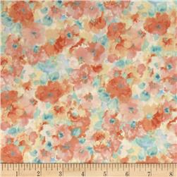 Kaufman London Calling Lawn Water Color Floral Pastel