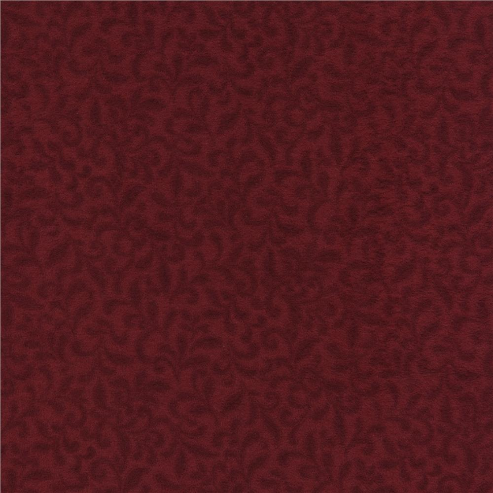 Timeless Treasures Americana Flannel Sprigs Red