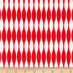 Riley Blake Mod Studio Stripe Red Fabric