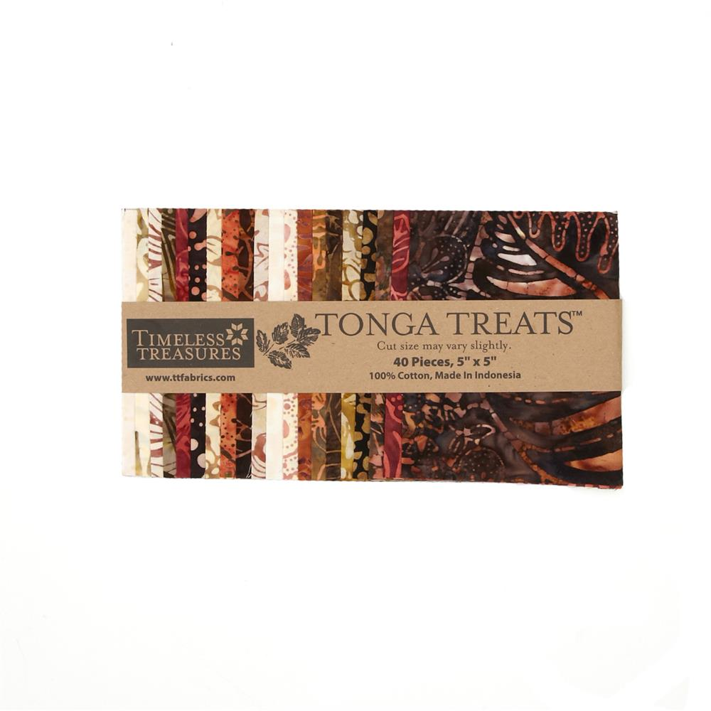 "Timeless Treasures Tonga Batik Treats 5"" Mini Square"