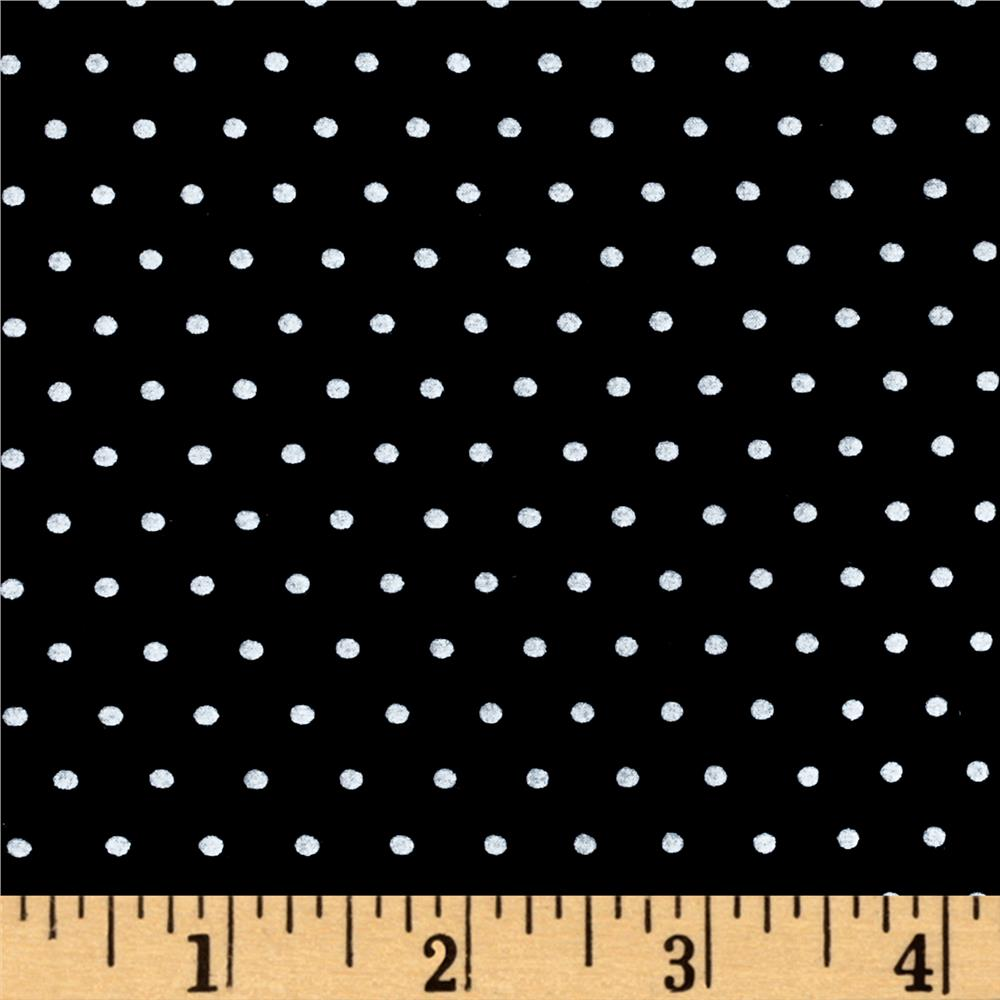 Telio Stretch Bamboo Rayon Jersey Knit Dot Black