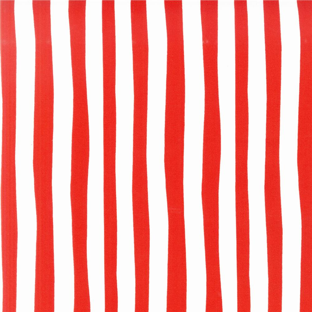 Celebrate Seuss! Squiggle Stripe Red/White Fabric