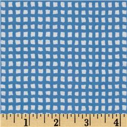 Alpine Itty Bitty Bugs Flannel Medium Check Blue