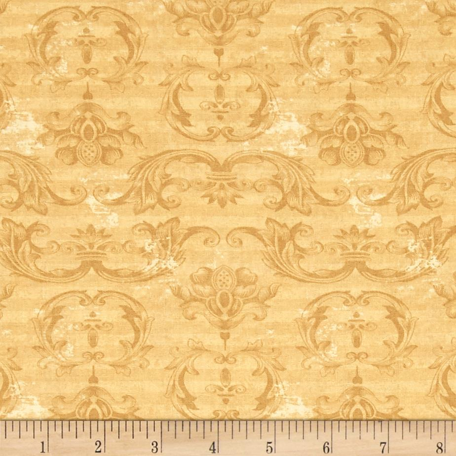 From The Chateau Striped Damask Gold