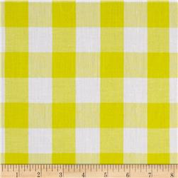 "Richcheck 60"" Gingham Check 1"" Yellow"