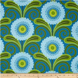 Sweet Lady Jane Daisy Chain Teal Fabric