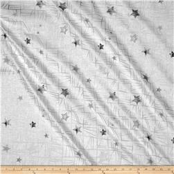 Glimmering Large Stars White/Silver
