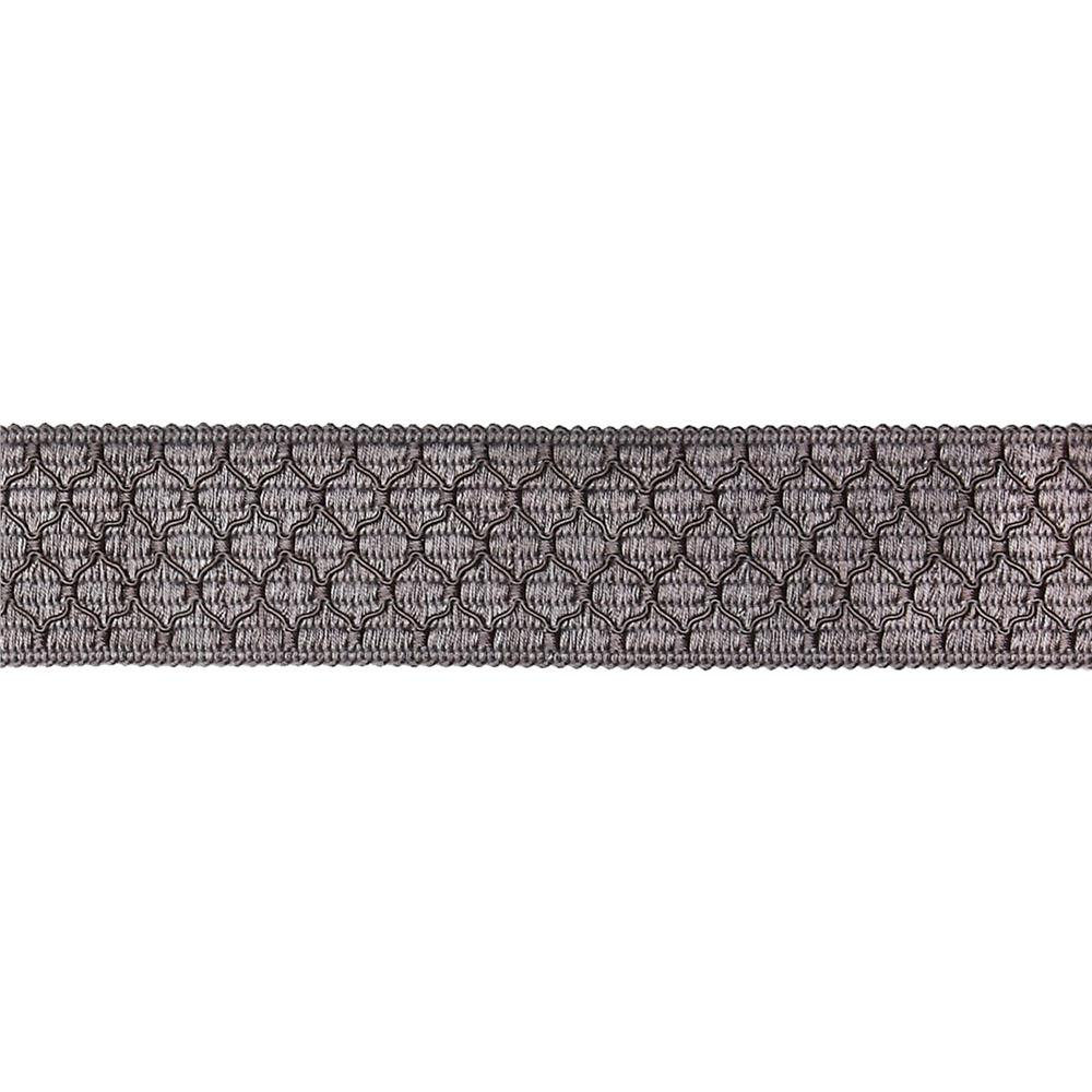 "Decorative Trim 2"" Braid Grey"