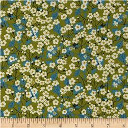 Liberty of London Classic Tana Lawn Wild Flowers Mitsi Green/Blue