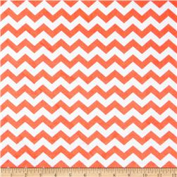 Minky Hytail Chevron Neon Orange Fabric