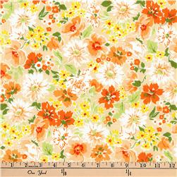 Kaufman Flora Flower Spray Orange