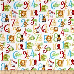 ABC-123 Numbers White/Multi