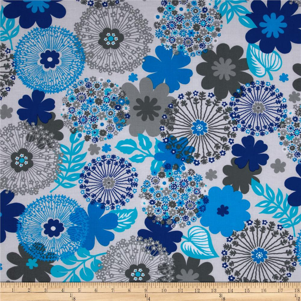 Sapphire Abstract Floral Grey