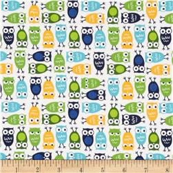 Robert Kaufman Urban Zoologie Mini Owls White