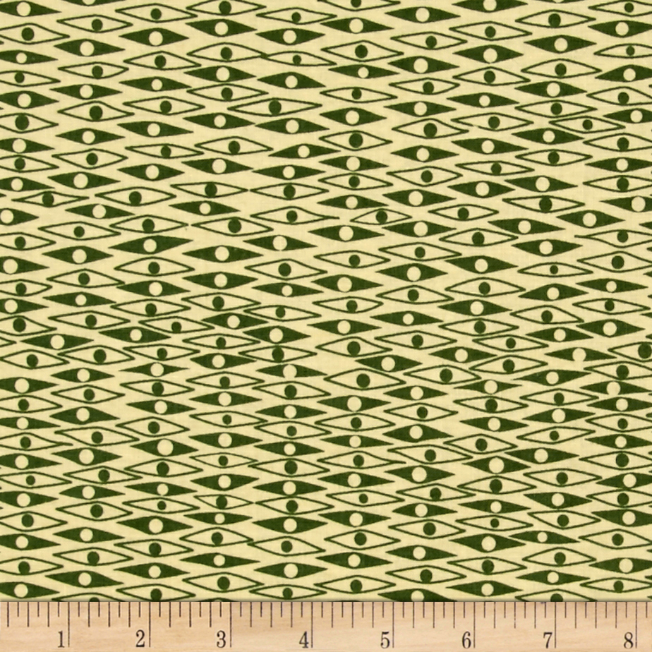Penny Rose Mid Mod Eye Green Fabric by Christensen in USA