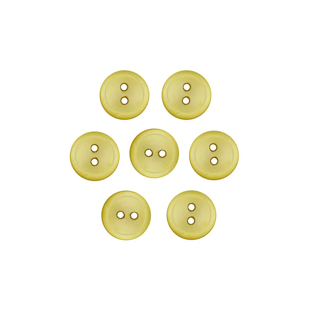 Dill Buttons 7/16'' Polyester Button Pearlized Yellow