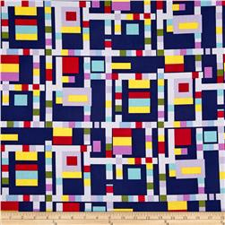 Michael Miller Cynthia Rowley Paintbox Blocks Navy