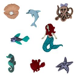 Dress It Up Embellishment Buttons  Mermaids