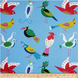 Waverly For the Birds Twill Peacock Fabric