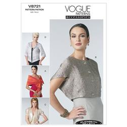 Vogue Wrap, Shrug and Jacket Pattern V8721 Size 0Y0