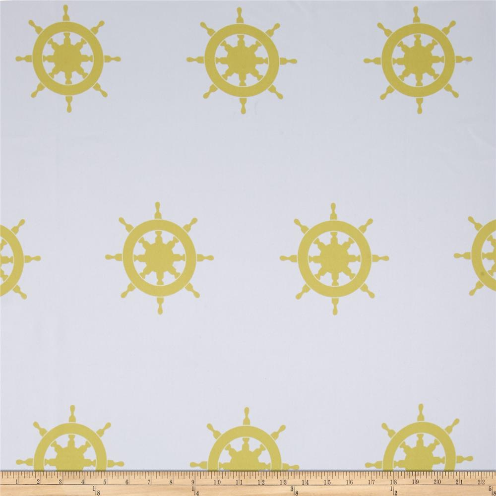 RCA Blackout Drapery Fabric Captain's Wheel Gold