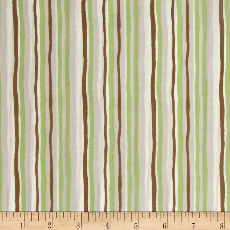 Woodland Gathering Organic Stripe Light Olive
