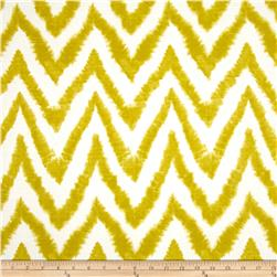 Premier Prints Diva Chevron Slub Artist Green Fabric