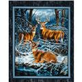 Wild Wings Wintergreen Wall Hanging Panel Blue