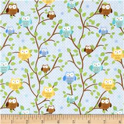 Riley Blake Snips & Snails Owls Blue