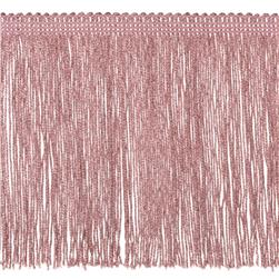 "6"" Metallic Chainette Fringe Trim Pink"