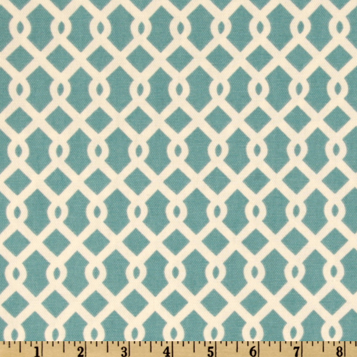 Waverly Ellis Turquoise Fabric by Waverly in USA